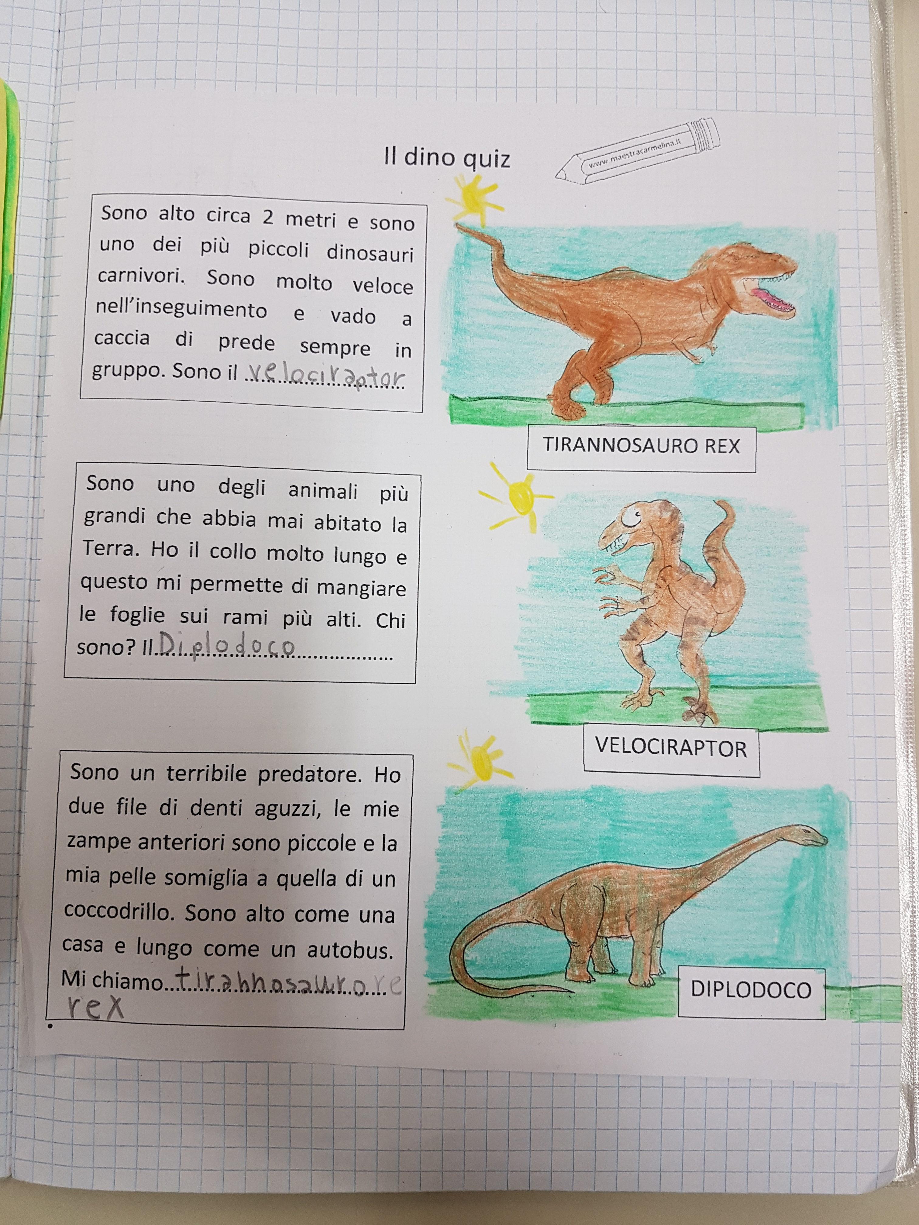 Dinosauri – Maestra Carmelina