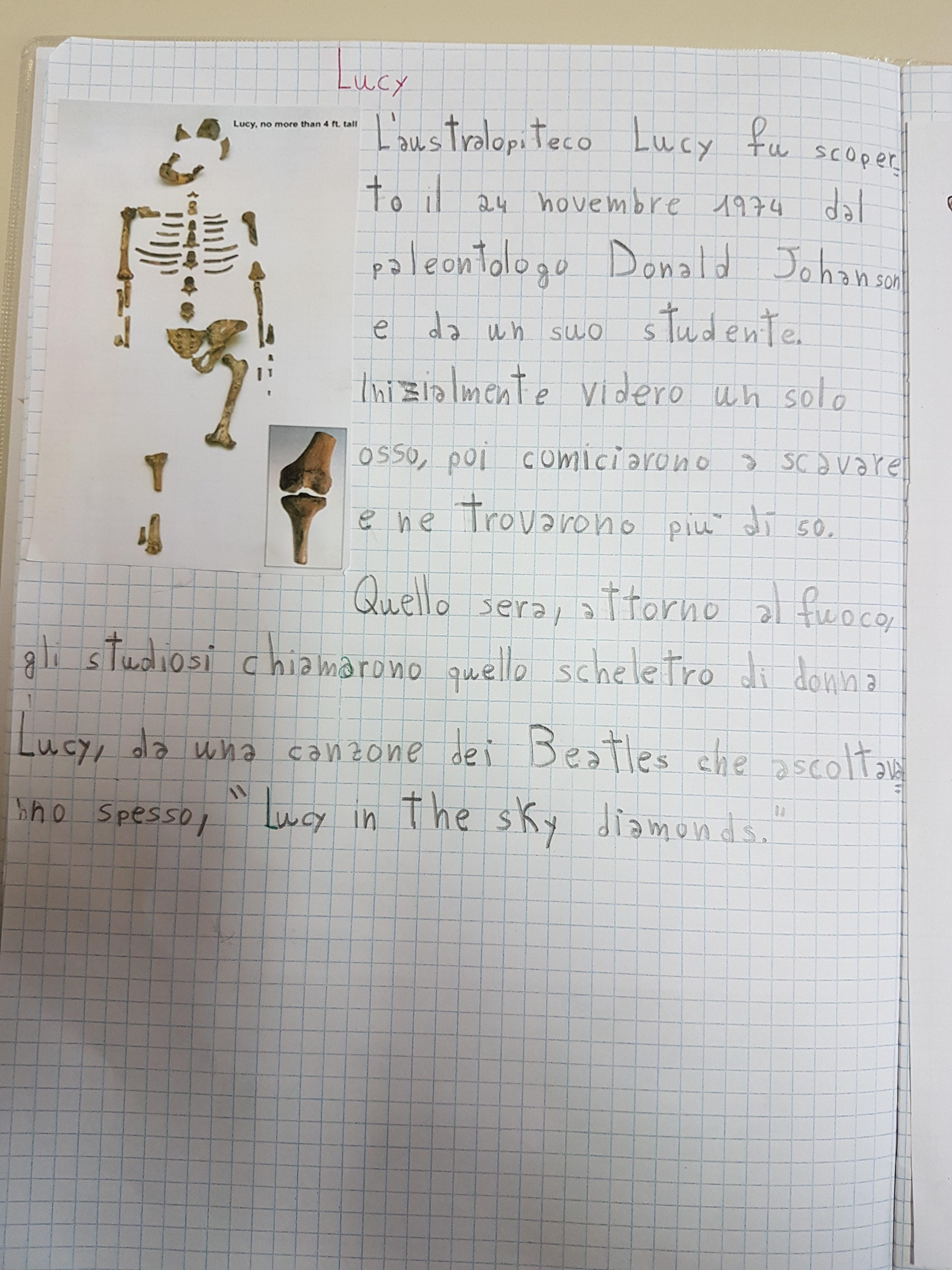 Lucy & co (gli Australopitechi) – Maestra Carmelina